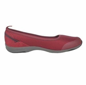 Lands End Slip On Comfort Skimmers Shoes Red
